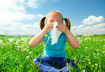 девочка с аллергией