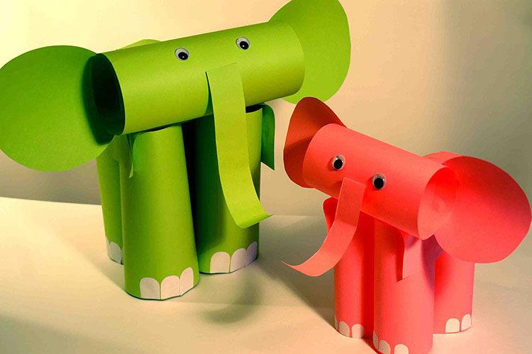 слоны из бумаги