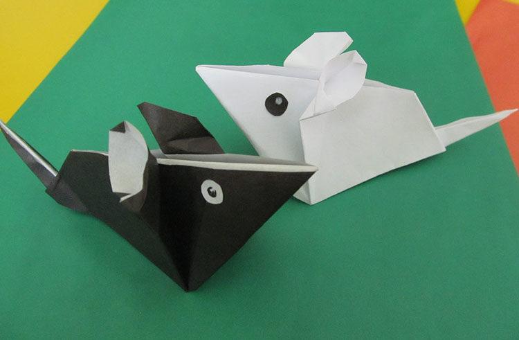 мышки в технике оригами