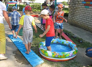 закаливание в детском саду