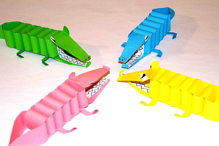 бумажные крокодильчики