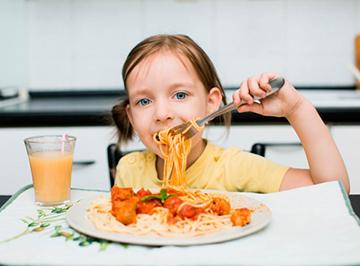 у ребенка хороший аппетит