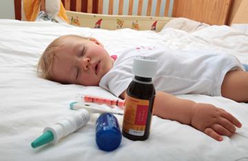 малыш болен